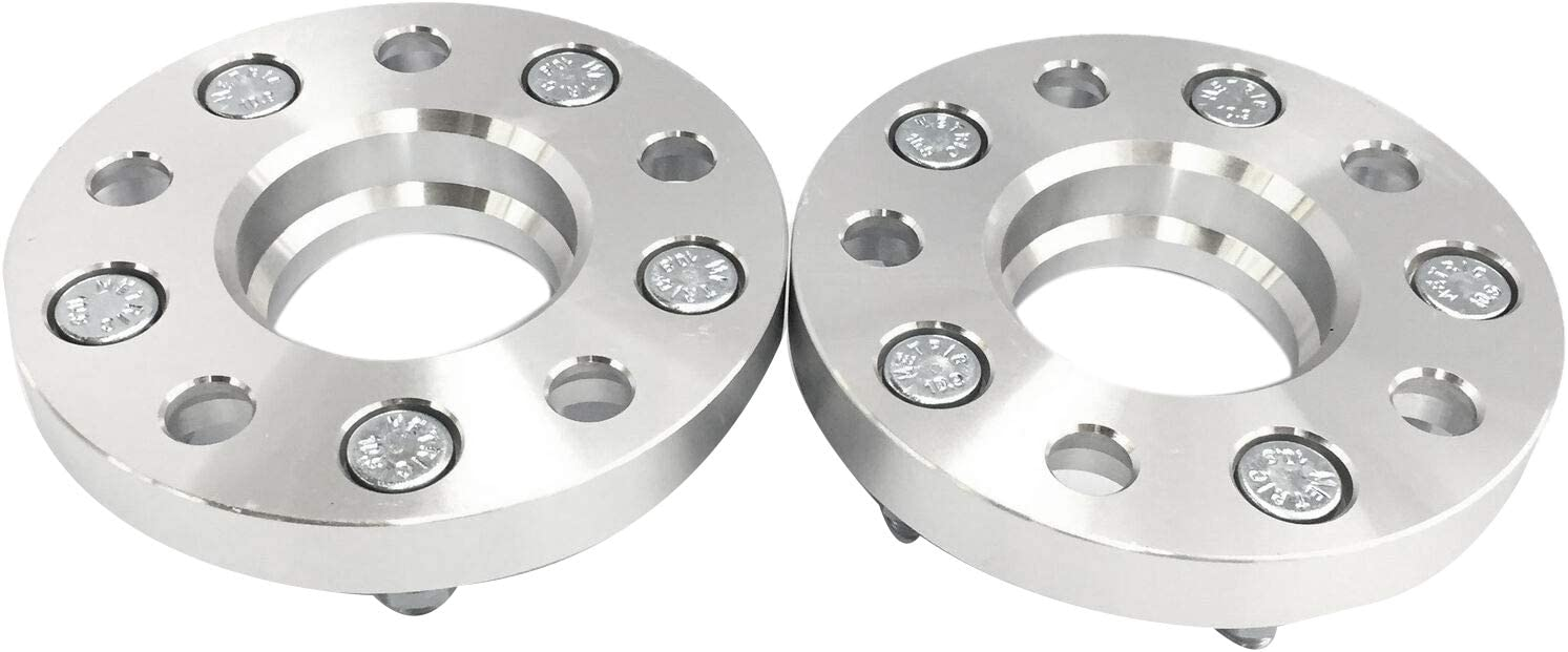WOVELOT 2Pcs Car Wheel Spacers Adapters Gasket Hub Centric Wheel Adapters 5X114.3 64.1 Mm CB 15Mm Thick Spacer
