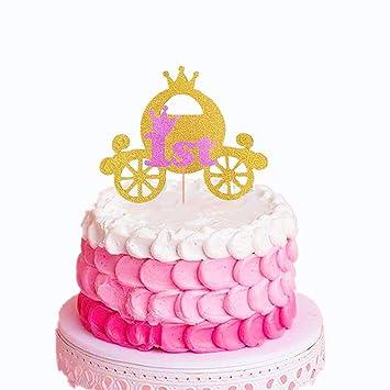 Laventy 2 Pcs Little Princess Cake Toppers Princess One Cake