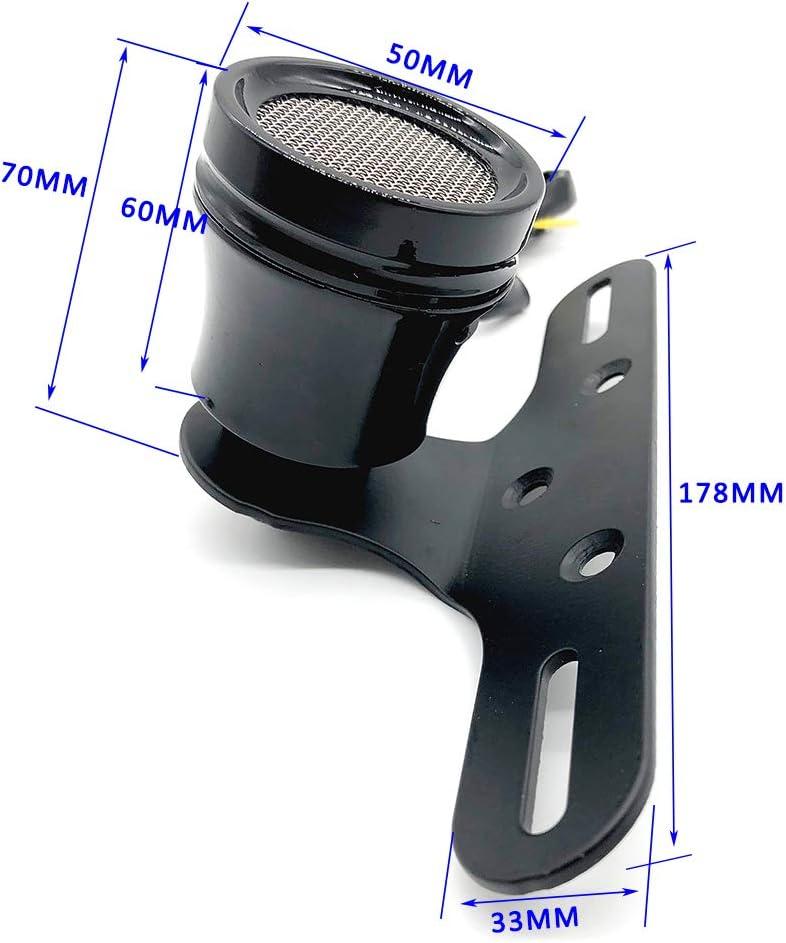 R/ücklicht Motorrad Bremsbremsleuchte Kennzeichenleuchte Retro Metall Trompete Runde Lampe