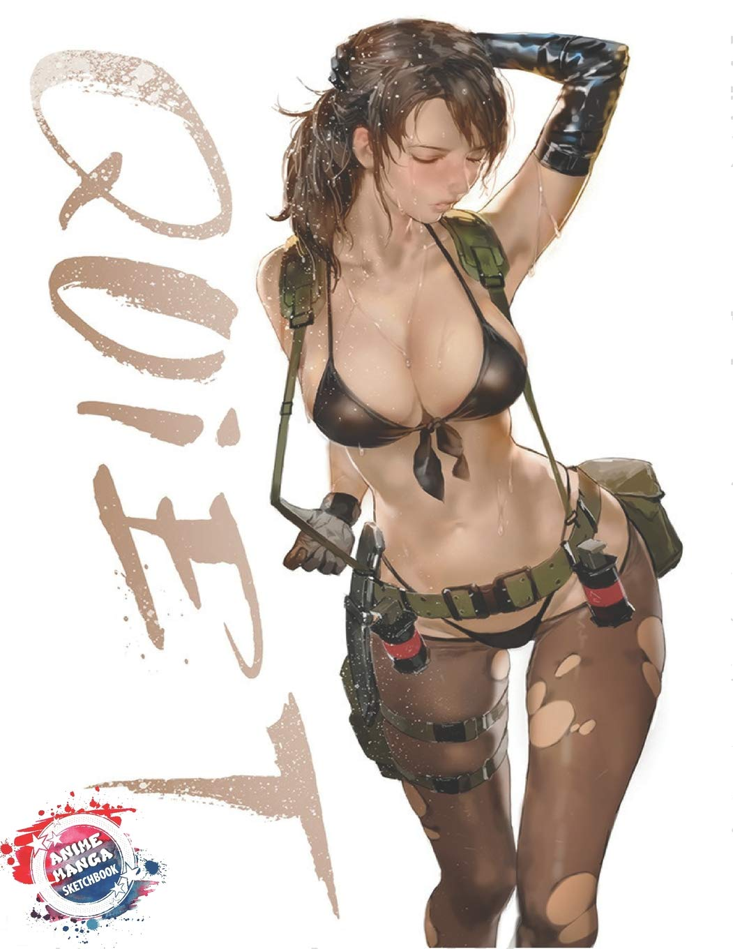 Anime Manga Sketchbook  American Soldier Female Assassin Sniper Cute Kawaii Sexy Anime Girl Cover   Blank Paper For Drawing Sketching And Doodling ... And Journal  Inkway Anime Zone Band 24