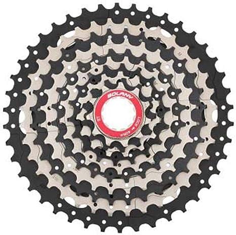 SHARESUN Volante de Bicicleta de montaña 10 velocidades 42T ...