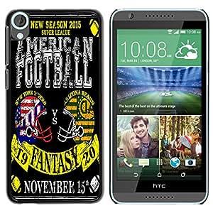 Dragon Case - FOR HTC Desire 820 - My favorite football - Caja protectora de pl??stico duro de la cubierta Dise?¡Ào Slim Fit