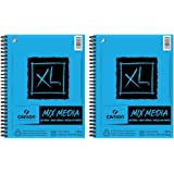 Canson XL Mixed Media Spiral Sketch Pad - 60 Sheets - 2 Pack (9 x 12)