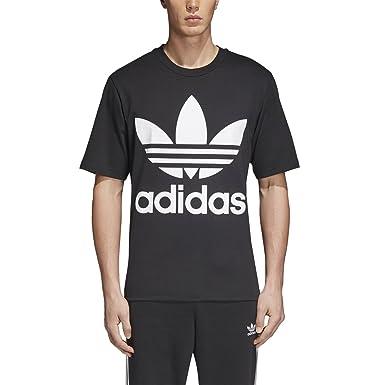 1ed9e4ff434 Amazon.com: adidas Men's Trefoil Oversized T Shirt (2XS) Black: Clothing