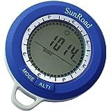 Docooler SR108N 8 in 1 Mini LCD Hintergrundbeleuchtung Digital Höhenmesser Steigleistung Barometer Thermometer Kompass Wettervorhersage Zeit Freien Wasserdichte Multifunktions mit Karabiner