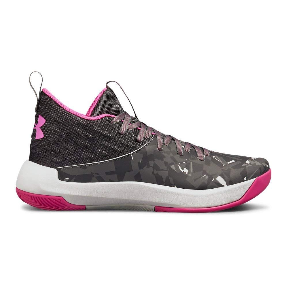 Under Armour Girls' Grade School Lightning 5 Basketball Shoe, Black (001)/Graphite, 4.5 by Under Armour (Image #1)