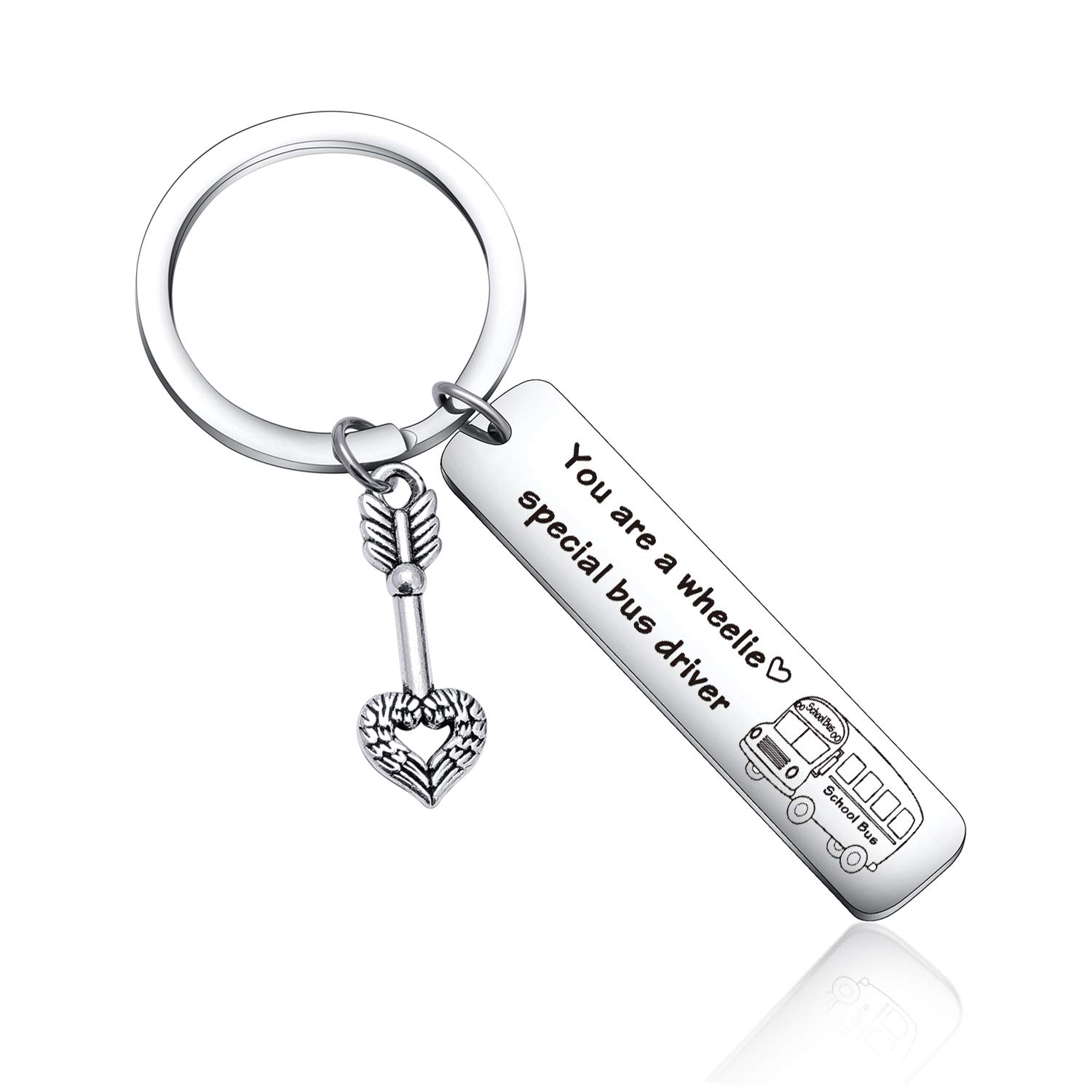 School Bus Driver Appreciation Gift Awesome Bus Driver Keychain School Bus Driver Thank You keychain