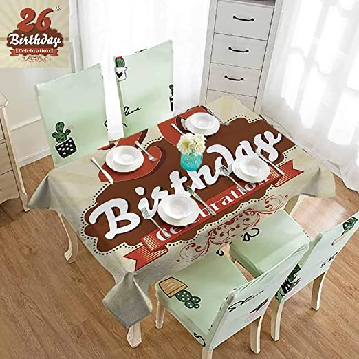 DocGike Mantel Decorativo para 26 cumpleaños, diseño de ...