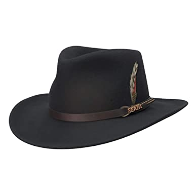 729f5d1ba19 Scala Classico Men s Crushable Felt Outback Hat at Amazon Men s Clothing  store  Cowboy Hats