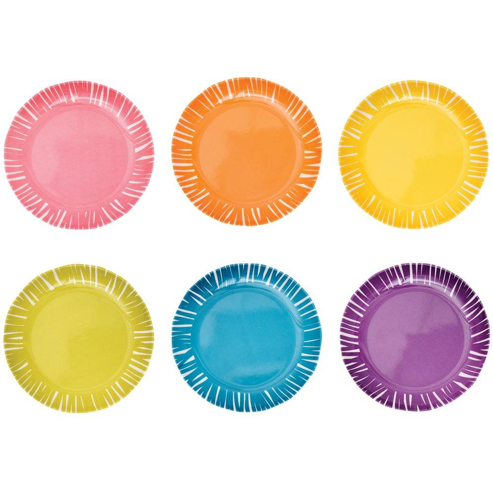 French Bull 6'' Appetizer Plate Set of 6 - Melamine Dinnerware - Platter, Dish, Serving, Collection - Fringe