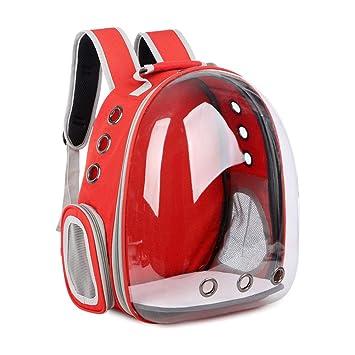 LELUN Bubble Cats Mochilas Perro Pequeño Sporty Pet Cat Backpack Carrier PU Soft-Sided Mochila