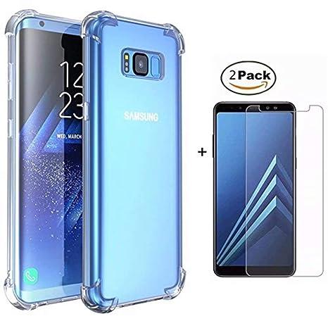 DYGG Compatible con Funda para Samsung Galaxy s8 Plus/s8+, Carcasa Forro Transparente TPU Silicona Flexible Case+[2* Protector de Pantalla]