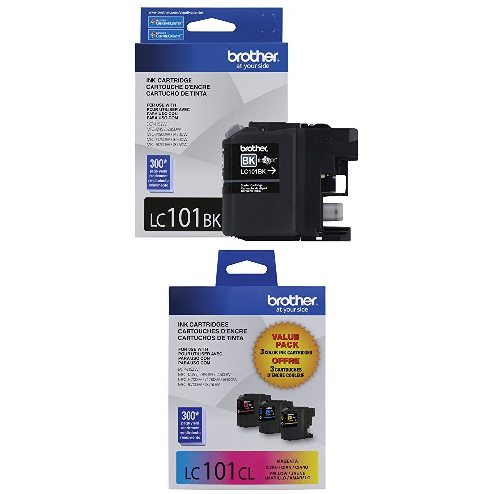 Brother Printer LC101 4-Pack Ink Cartridge
