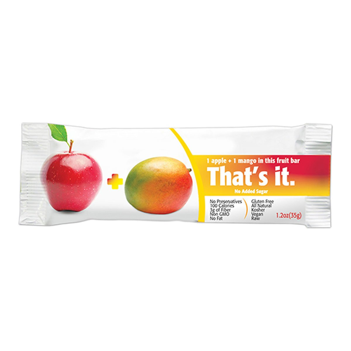 That's it. Apple + Mango 100% Natural Real Fruit Bar