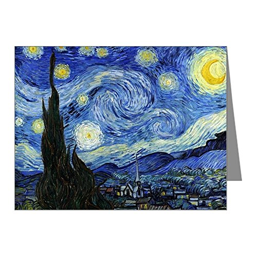 Van Gogh Note (CafePress - Starry Night By Vincent Van Gogh Note Cards - Blank Note Cards (Pack of 20) Matte)