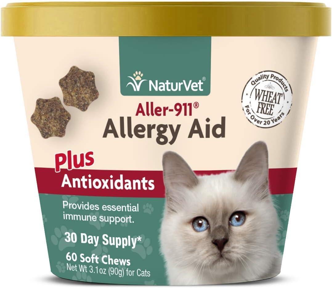 NaturVet aller-911 alergia Ayuda Plus antioxidantes para Gatos, 60 CT Dental para Suave, Fabricado en Estados Unidos: Amazon.es: Productos para mascotas