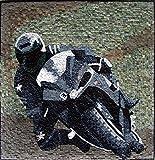 Mozaico - Motorbike Rider Wall Art Mosaic Handmade Marble and Natural Stone Design MS207