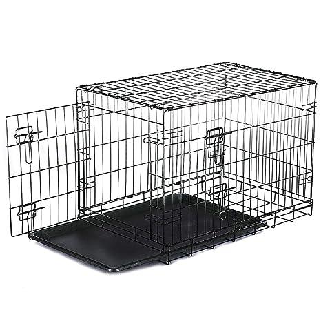 Froadp - Jaula Plegable para Perros, con 2 Puertas, de Metal, para ...