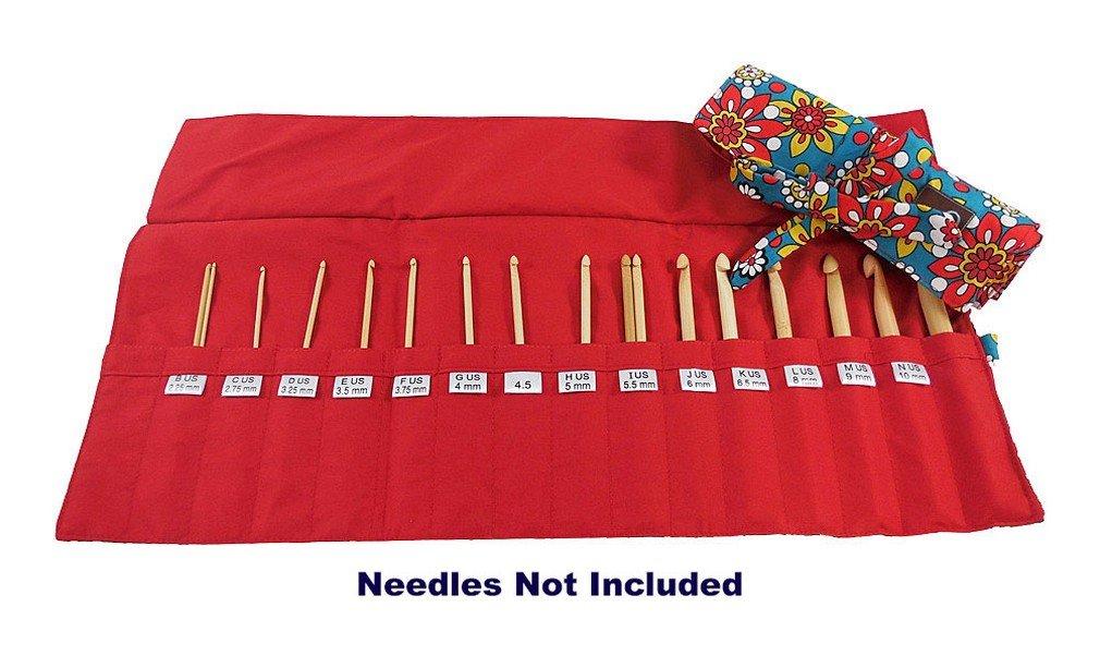 della Q Crochet Roll for Crochet Hooks (Sizes A to N) 110 Belmont 168-2-110 by della Q (Image #1)