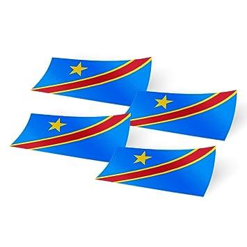 Pack de 4 pegatinas de bandera del país de 10,16 cm de ancho para