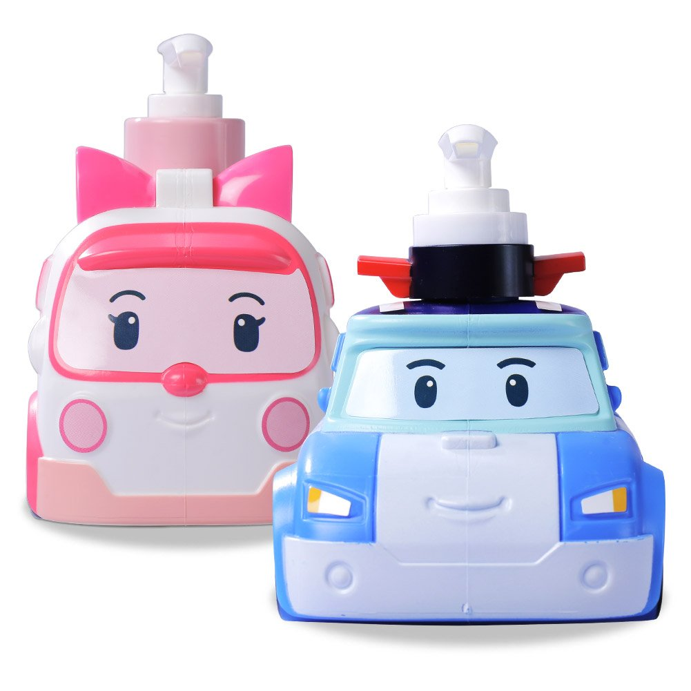 Robocar Poli and Amber Baby & Kids Traditional Herb Shampoo and Wash All in One Set 2 Bottles 24.34 oz YONA
