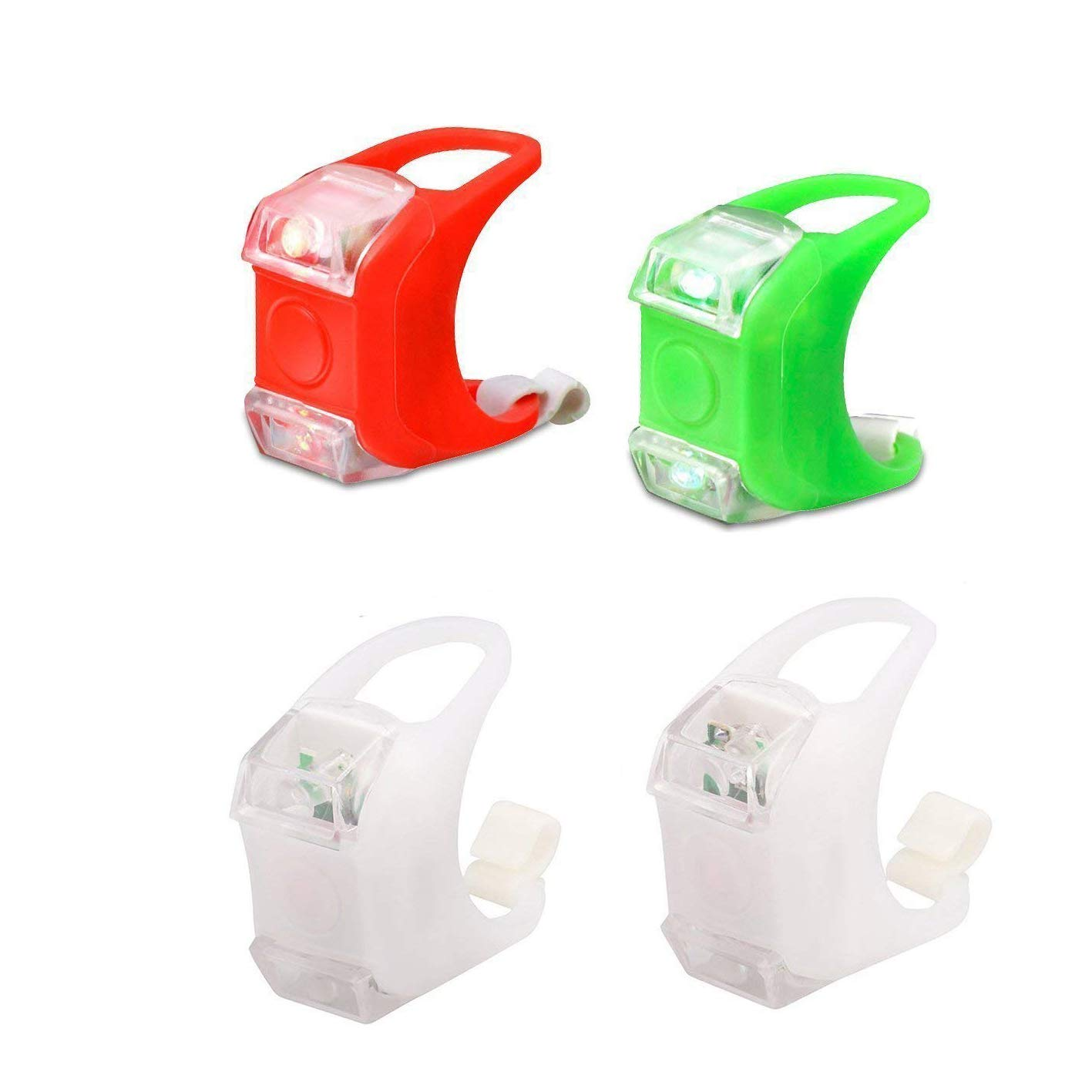 Deals4you Green & Red Portable Marine LED Boating Lights - Boat Bow or Stern Safety Lights-Kayak Navigation Lights, Backup Lights for Racing Sailboats and Day Sailors (Red & Green)
