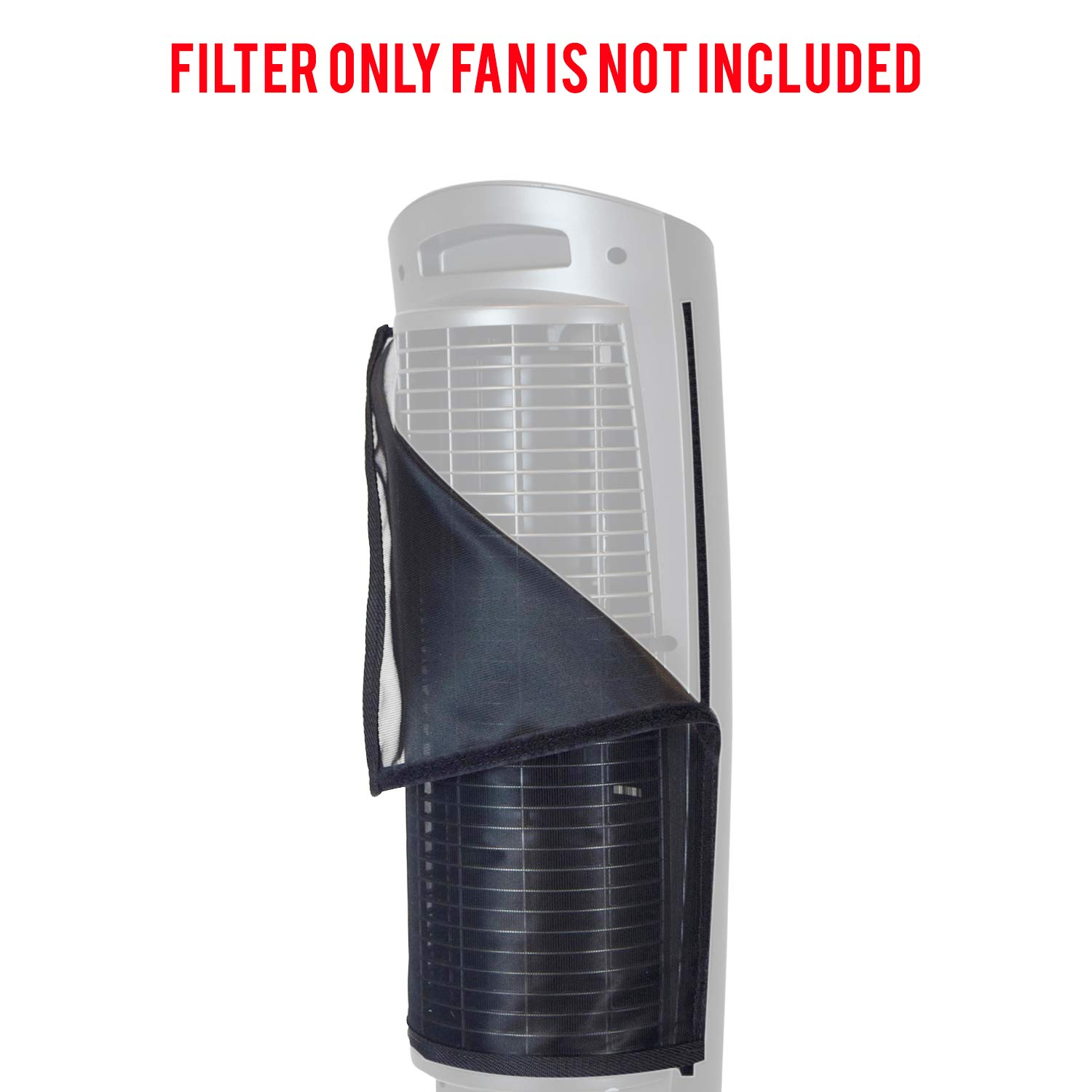 Lasko 2554, 2551 42'' Wind Curve Fan Filter fits perfect on this fan keeps your fan clean and lasting longer effective at Filtering Airborne Pollen Dust Mold Spores Pet Dander Reusable WASHABLE US Made