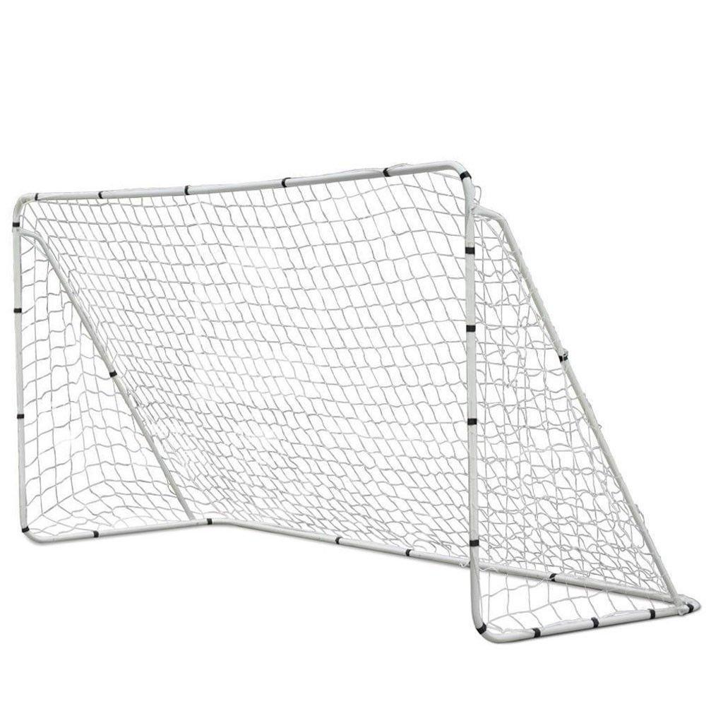 12x6 Portable Football Goal Soccer Net Steel Frame Quick Ball Sport Training