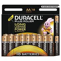 Duracell Plus Power Batterie Alcaline, confezione da 18