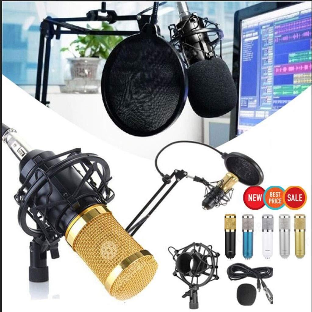 Low Self-Noise Sound Cardioids Polar Pickup Pattern Studio Dynamic Mic Shock Mount White Radorock Audio BM-900 Microphone Multi-Situation High Output
