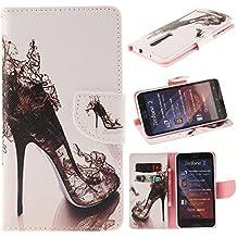 Zenfone 2 Case Asus Zenfone 2 Kickstand Case,Bat King Pu Leather Case Magnet Wallet Credit Card Holder Flip Kickstand Cover Case for Asus Zenfone 2 ZE550ML[Sexy High Heels]