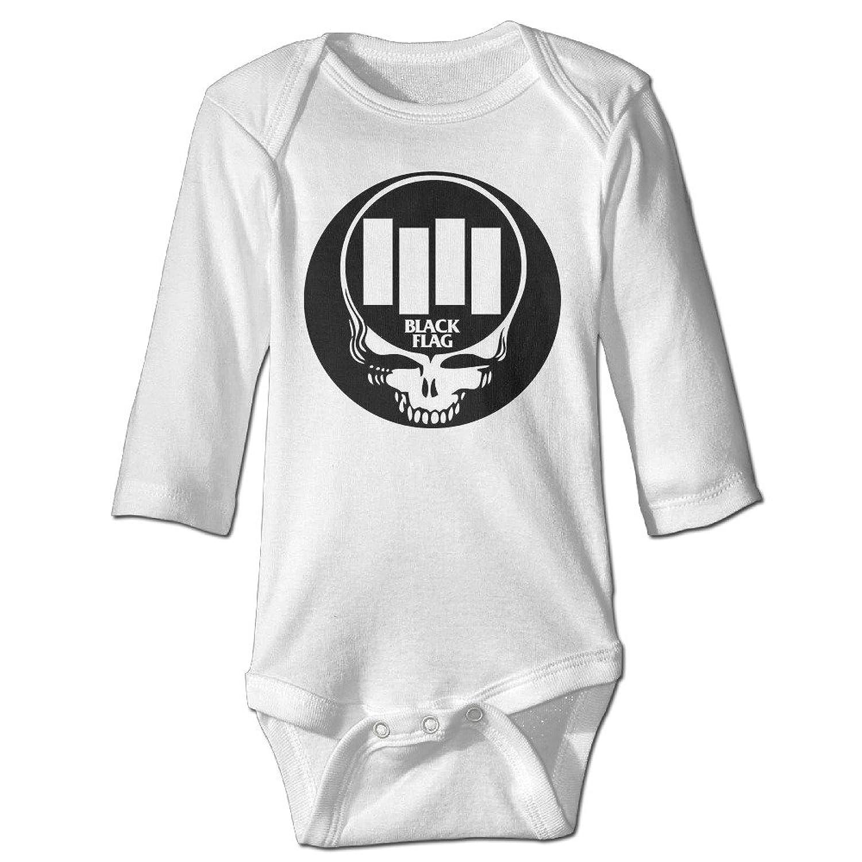 Black flag t shirt europe - Yisw Unisex Baby Bodysuit Black Flag Bars And Logo Long Sleeve Romper T Shirt White 12 Months
