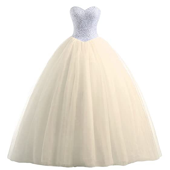 Erosebridal Sweetheart Quinceanera Dress with Beaded Bodice Princess ...