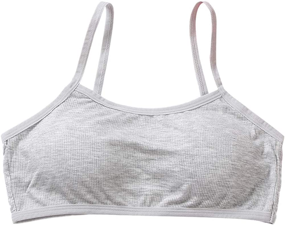 Young Students Training Sport Underwear Padded Bra Teenage Soft Cotton Puberty Bra for Developing Girls