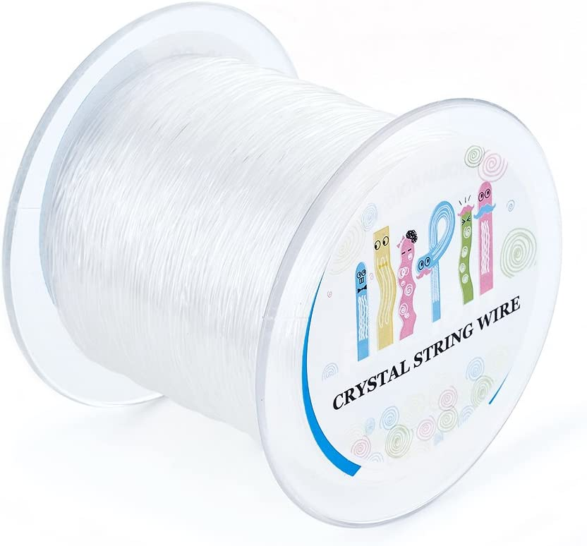 Kissitty 60 Meters//Roll 0.8mm Elastic String Stretchy Bracelet String Crystal String Bead Cord for Bracelet Beading and Jewelry Making