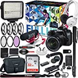 Canon EOS 6d DSLR Camera Premium Video Creator Kit with Canon 24-105mm STM Lens + Sony Monitor Series Headphones + Video LED Light + 32gb Memory + Monopod + High End Accessory Bundle