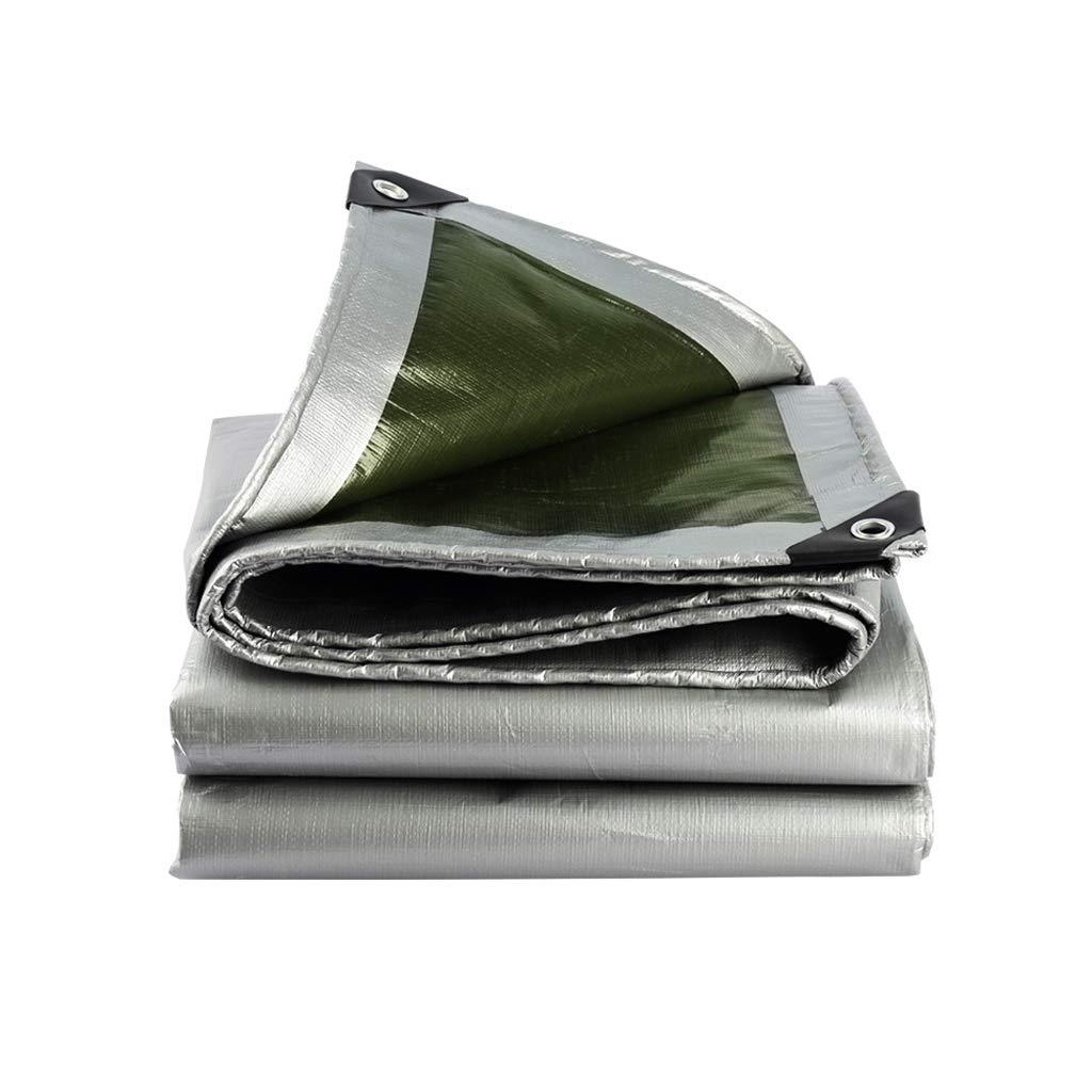 YEIUY Wasserdichte Plane Silber Verdickung Outdoor-Schutz Abdeckung Regen Tuch Sonnenschutz hohe Dichte gewebt Baldachin Zelt Poncho, Bodenmatte Camping Gartenarbeit, Multi-Größe