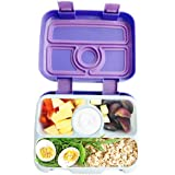Bento Lunch Box for Kids by Fenrici, Leak-Proof Kids Lunch Box, Removable Tray for Easy Cleaning, Perfect Portion Sized for Ages 5-12, BPA Free, Food Safe, Support a Great Cause, Purple