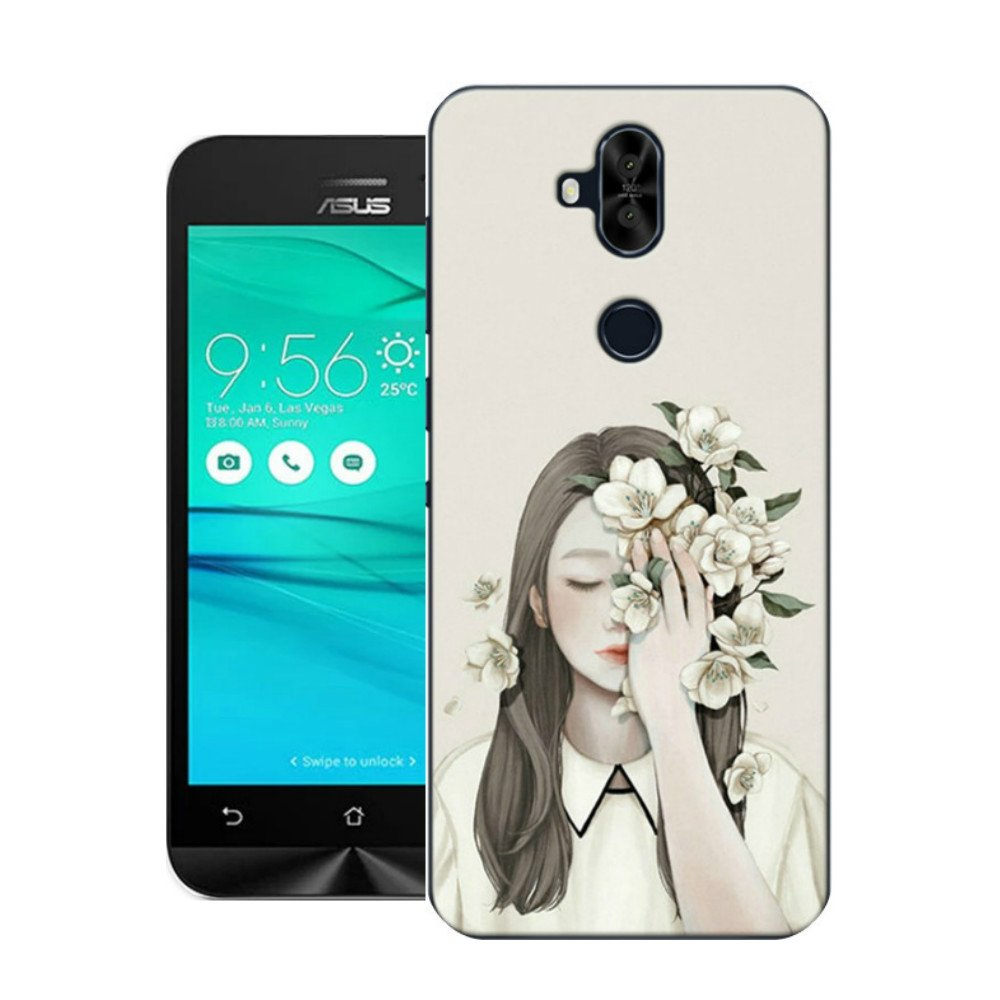 Asus Zenfone 5q Casejilika Tpu Soft Painted Patterns Goospery Iphone 7 Plus Feeling Jelly Case With Hole Stone Full Protection Of The Phone Cover For 2018 Elegant Girl Cell