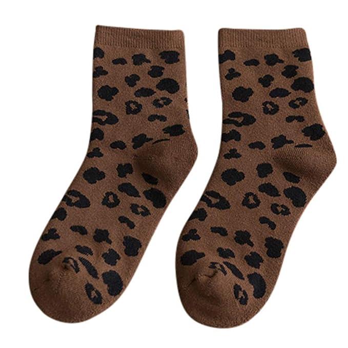 2019 Despeje Calcetines Termicos Hombres Mujer Otoño Invierno Personalidad Algodón Estampado De Leopardo Calcetines: Amazon.es: Ropa y accesorios