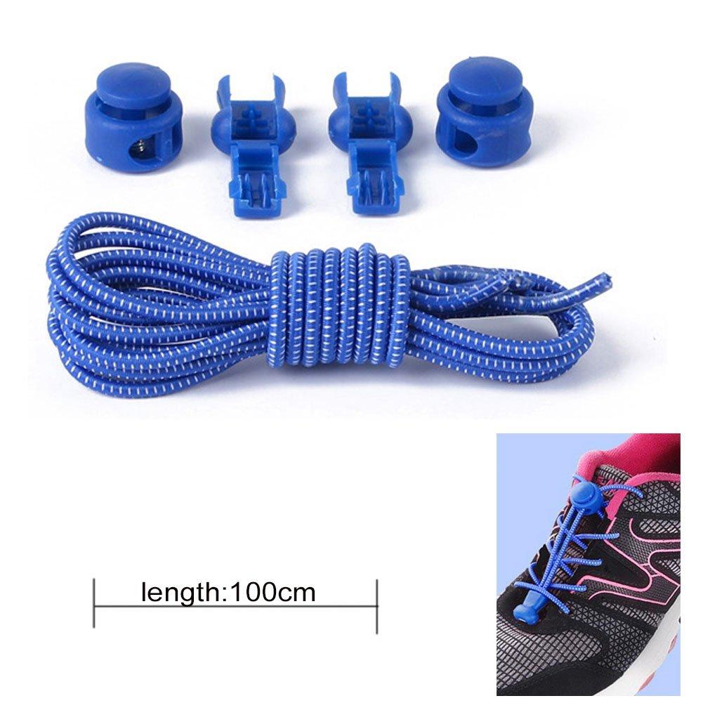 wealsex Lacets Elastique Autobloquants Lacets Sans La/çage Sans Noeuds Pour Baskets Sport Running Triathlon Adultes Enfants