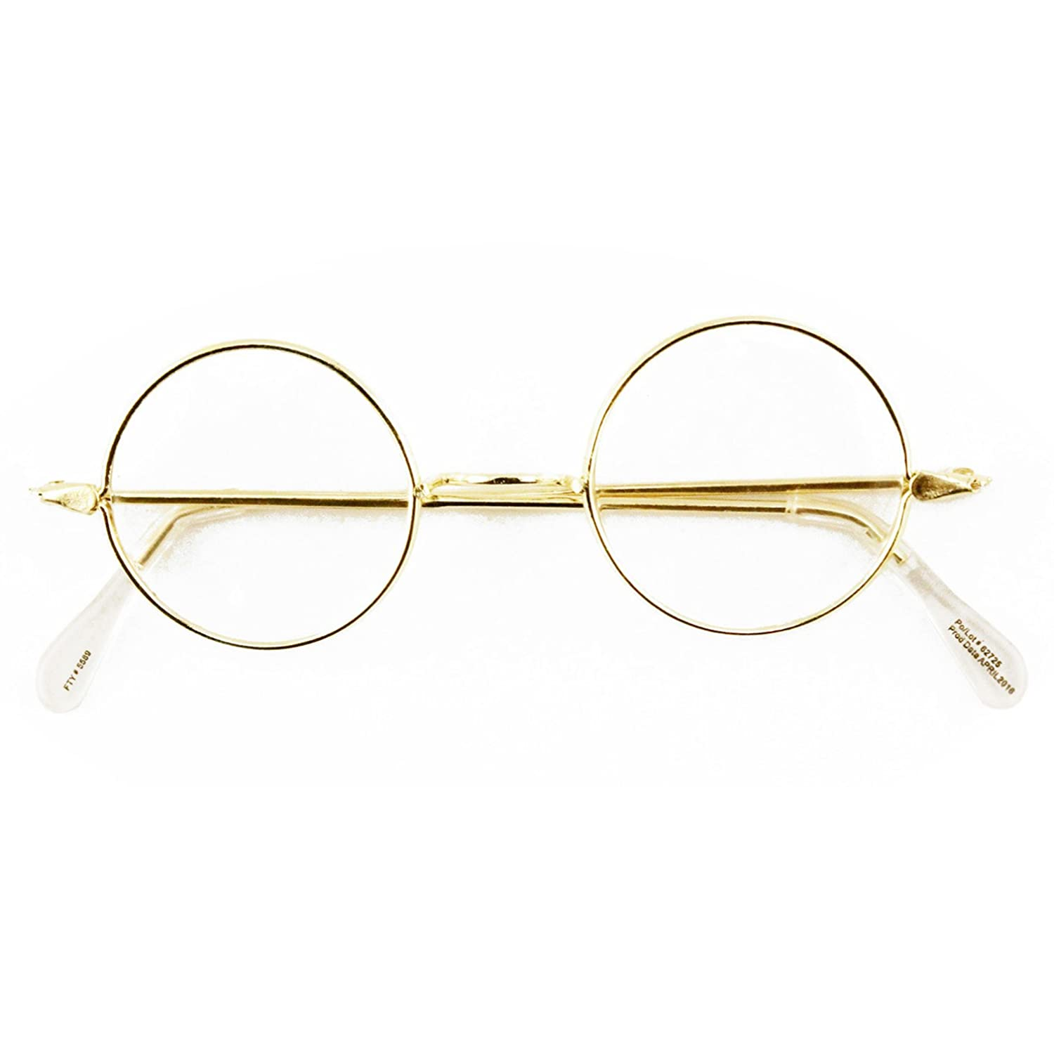 6ff6877e1ae8b Includes one pair of round wire rim costume accessory glasses. These round  glasses make a great accessory to any Santa Claus suit or Mrs. Claus costume .