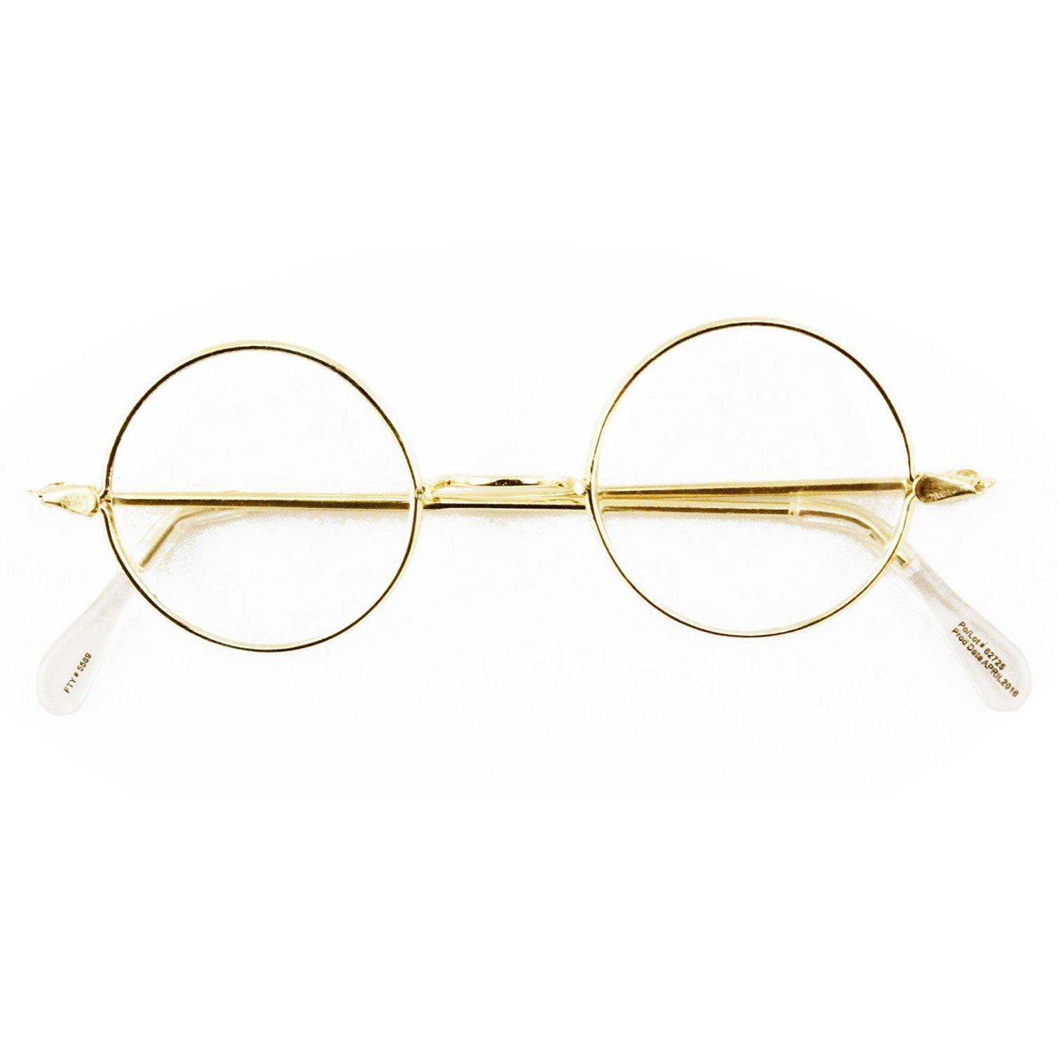 Amazon.com  Round Wire Rim Glasses Costume Accessory  Clothing 59df385158
