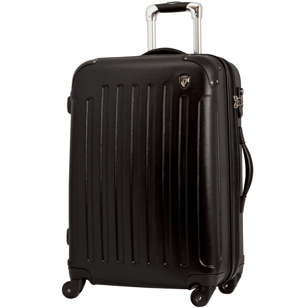 [グリフィンランド]_Griffinland TSAロック搭載 スーツケース 超軽量 マット加工 newFK10371 ファスナー開閉式 B078BCKGMN M(中)型 +【名前刻印】|ブラック ブラック M(中)型 +【名前刻印】