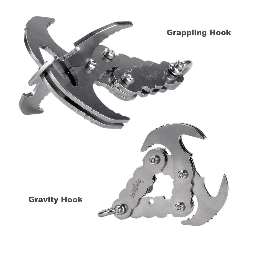 WodsWod Grappling Hook, Stainless Steel Outdoor Folding Gravity Hook, Load Up to 170lbs for Climbing, Hiking, or Tree Limb Removal