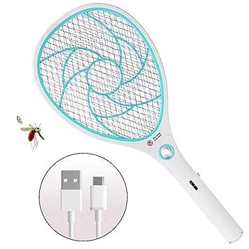 ZOMAKE Raqueta Matamoscas Electrico Matamosquitos, Plagas Insectos ...