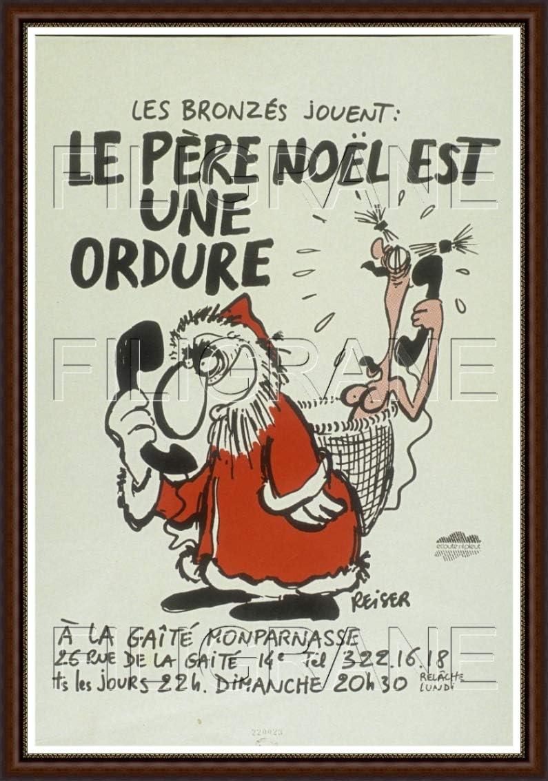 Postersandco Le Pere Noel Est Une Ordure Rvdm Poster Reproduction 40x60cm D1 Affiche Vintage Bf Posters Tableaux Posters Et Arts Decoratifs
