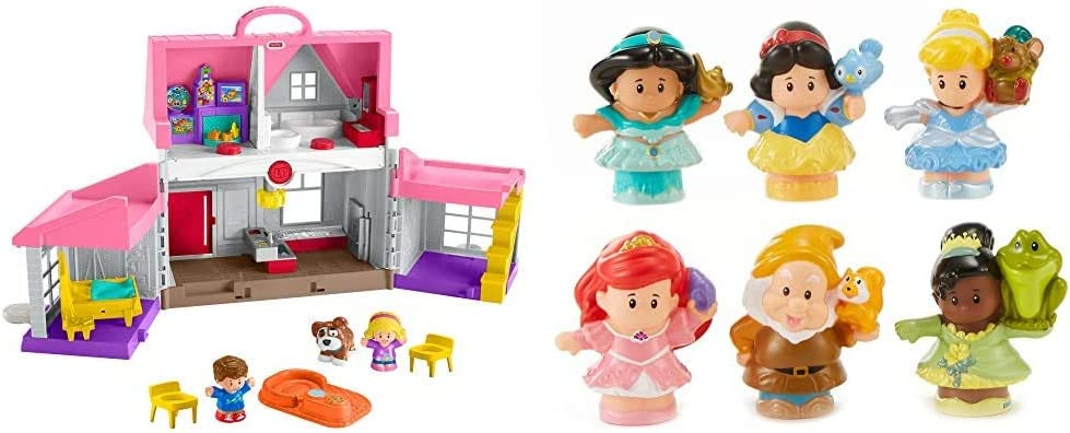 Fisher-Price Little People Big Helpers Home & Little People Disney Princess Gift Set (6 Pack) [Amazon Exclusive]