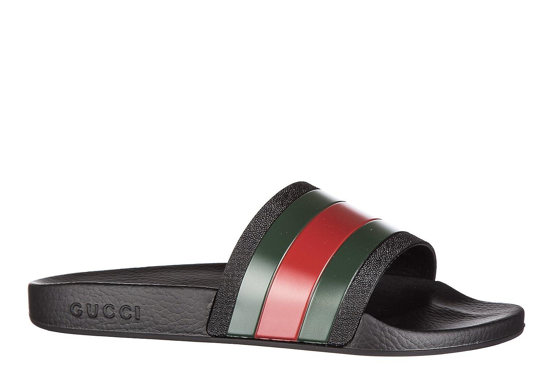 abbfe535547d16 Gucci Mules Sandales Chaussons Homme en Caoutchouc porelai Noir: Amazon.fr:  Chaussures et Sacs