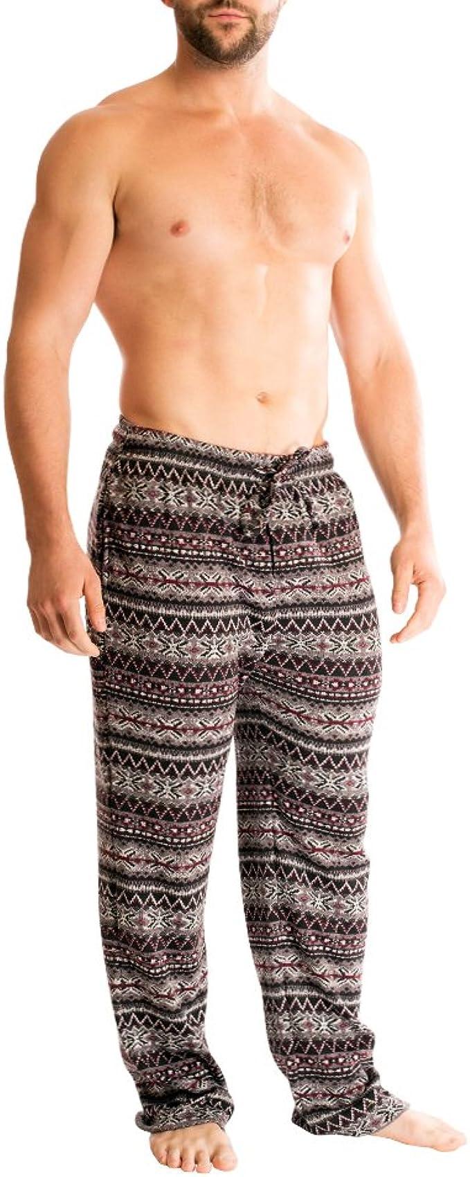 Bottoms Out Mens Designer Comfortable Unique Sweater Fleece Pajama Sleep Lounge PJ Pants for Men